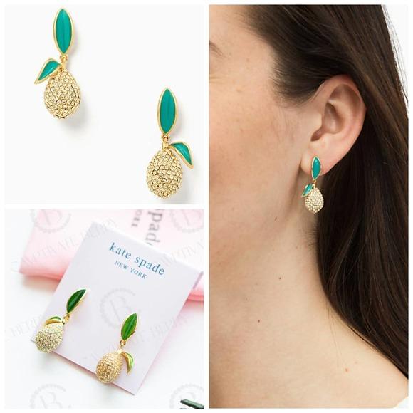 Kate Spade Picnic Perfect Lemon Drop Earrings